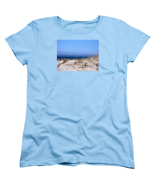 Sand And Sky Women's T-Shirt (Standard Cut) by Catherine Gagne