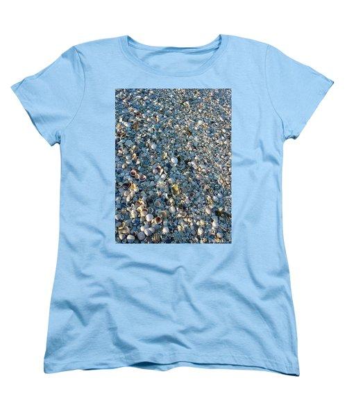 Women's T-Shirt (Standard Cut) featuring the photograph Sand Key Shells by David Nicholls