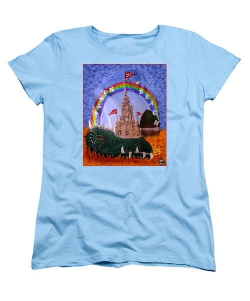 Women's T-Shirt (Standard Cut) featuring the photograph Sandcastle Shirt by Wendy McKennon