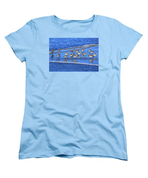Sandpiper Symmetry Women's T-Shirt (Standard Cut) by Robert Bynum