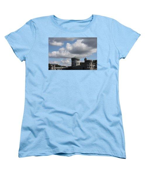 Women's T-Shirt (Standard Cut) featuring the photograph Sands Point Castle by John Telfer