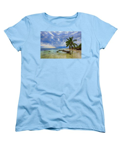 Sandspur Beach Women's T-Shirt (Standard Cut) by Swank Photography