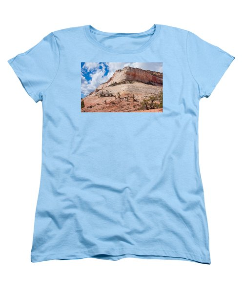 Women's T-Shirt (Standard Cut) featuring the photograph Sandstone Mountain by John M Bailey
