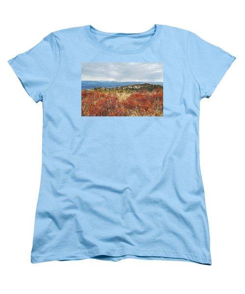 Sandstone Peak Fall Landscape Women's T-Shirt (Standard Cut) by Kyle Hanson