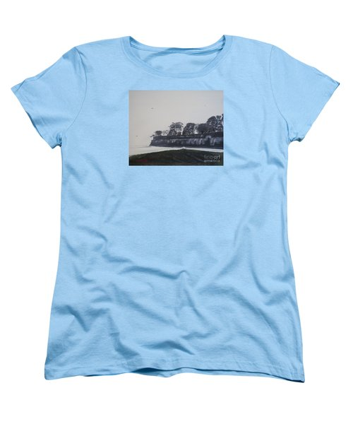 Women's T-Shirt (Standard Cut) featuring the painting Santa Barbara Shoreline Park by Ian Donley