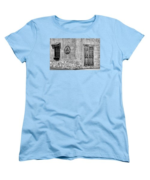 Women's T-Shirt (Standard Cut) featuring the photograph Santa Fe New Mexico Street Corner by Ron White