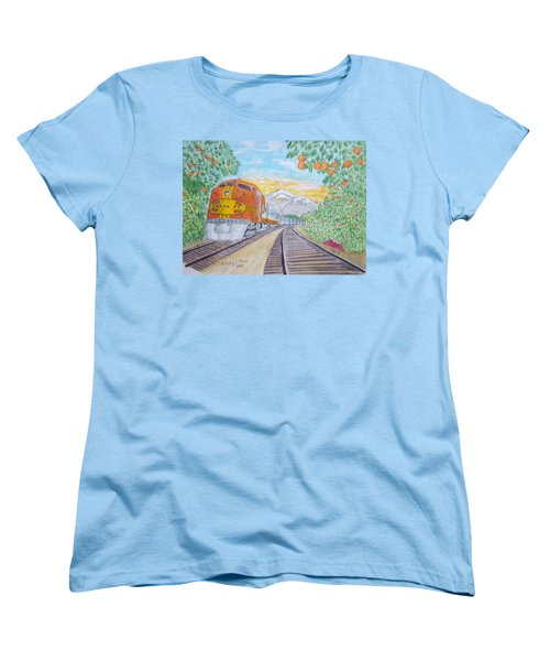 Santa Fe Super Chief Train Women's T-Shirt (Standard Cut) by Kathy Marrs Chandler