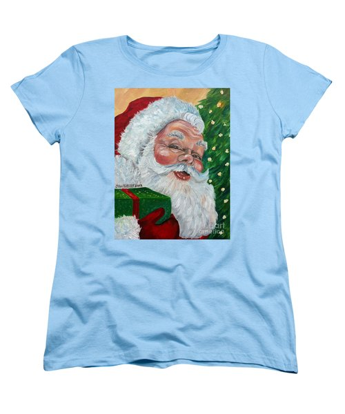 Santa Women's T-Shirt (Standard Cut) by Julie Brugh Riffey
