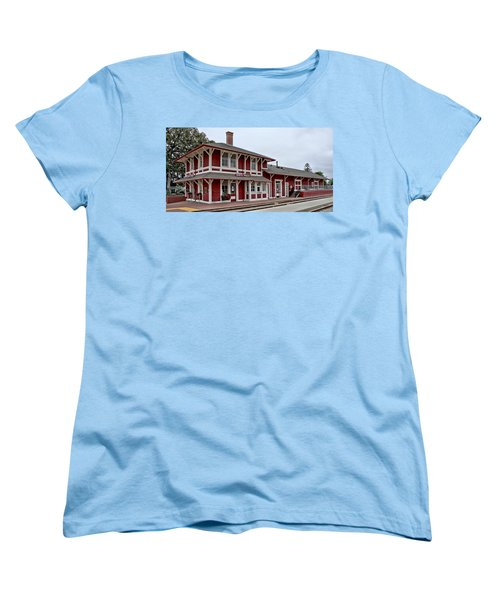 Women's T-Shirt (Standard Cut) featuring the photograph Santa Paula Station by Michael Gordon
