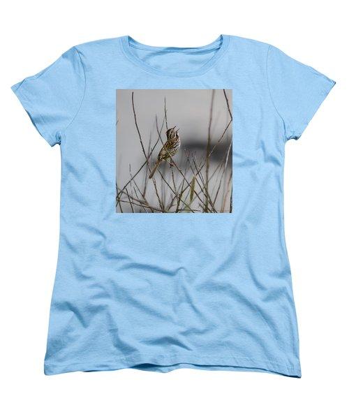 Savannah Sparrow Women's T-Shirt (Standard Cut) by Marty Saccone