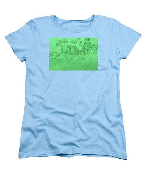 Scene In Green Women's T-Shirt (Standard Cut) by Mustafa Abdullah