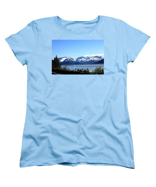 Women's T-Shirt (Standard Cut) featuring the photograph Scenic Byway In Alaska by Kathy  White