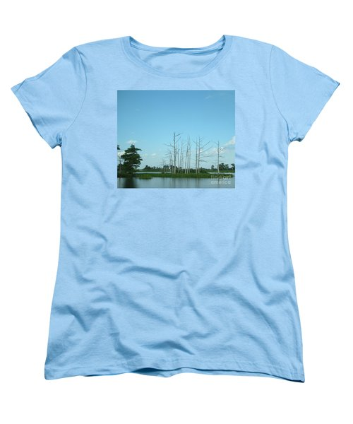 Women's T-Shirt (Standard Cut) featuring the photograph Scenic Swamp Cypress Trees by Joseph Baril