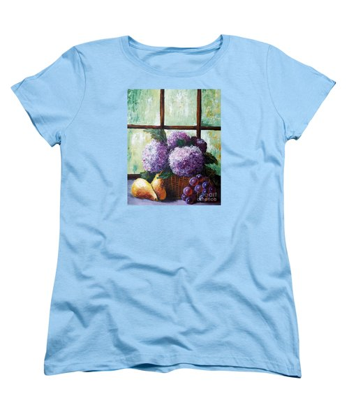 Women's T-Shirt (Standard Cut) featuring the painting Scent Of Memories by Vesna Martinjak
