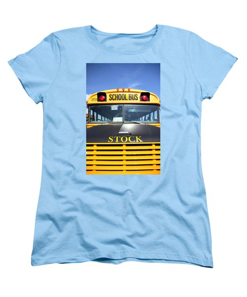 School Bus Women's T-Shirt (Standard Cut) by Valentino Visentini