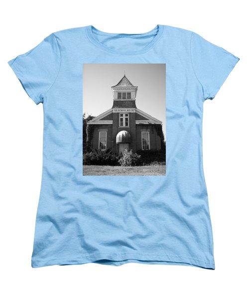 Women's T-Shirt (Standard Cut) featuring the photograph School House by Michael Krek