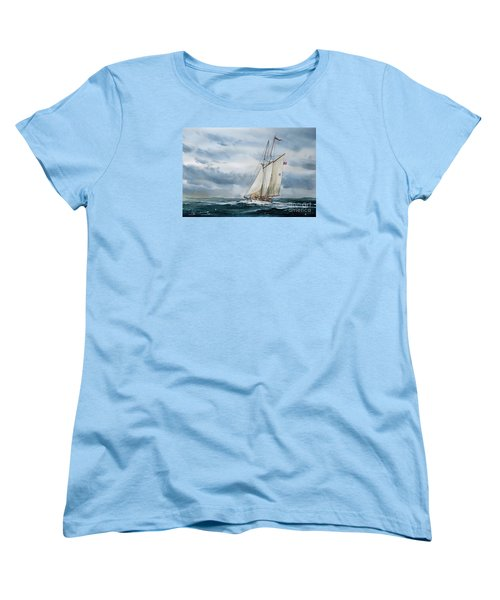 Schooner Adventuress Women's T-Shirt (Standard Cut) by James Williamson