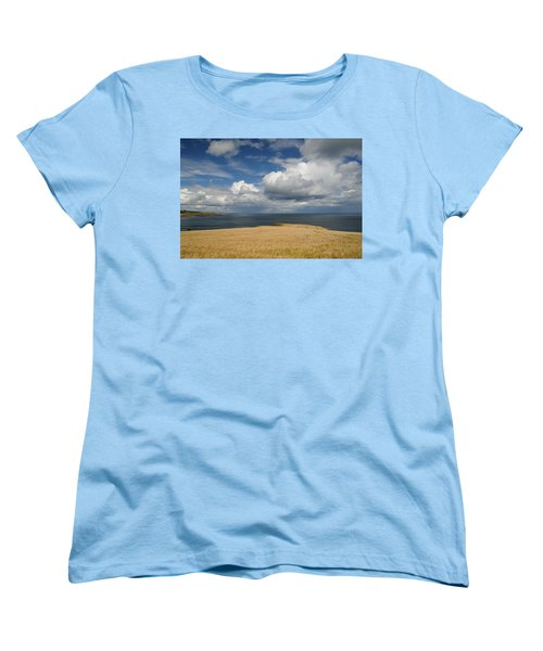 Scottish Coastal Wheatfield Women's T-Shirt (Standard Cut) by Jeremy Voisey