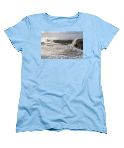 Scottish Sea Storm Women's T-Shirt (Standard Cut) by Jeremy Voisey