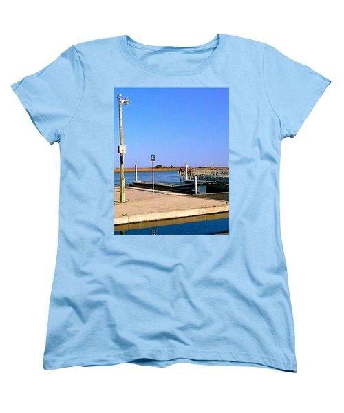 Sea Gulls Watching Over The Wetlands Women's T-Shirt (Standard Cut) by Amazing Photographs AKA Christian Wilson