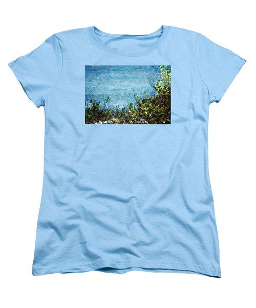 Women's T-Shirt (Standard Cut) featuring the digital art Sea Shore 1 by David Lane