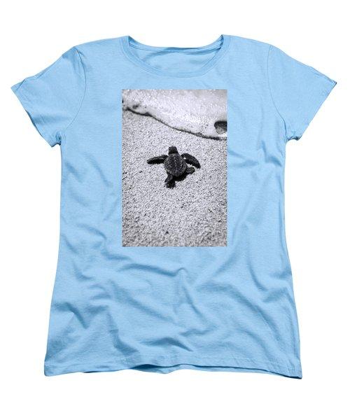 Sea Turtle Women's T-Shirt (Standard Cut) by Sebastian Musial