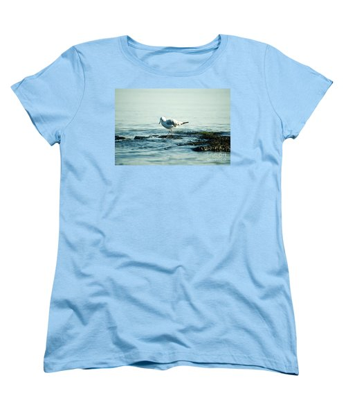 Women's T-Shirt (Standard Cut) featuring the photograph Seagull Hunting by Yew Kwang