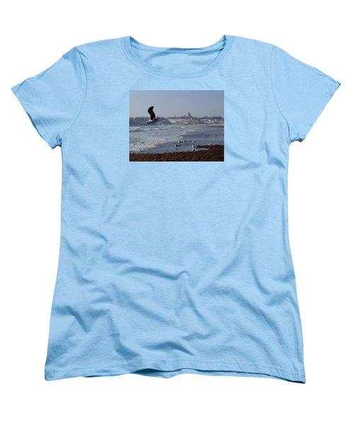 Seagull Women's T-Shirt (Standard Cut) by Robert Nickologianis