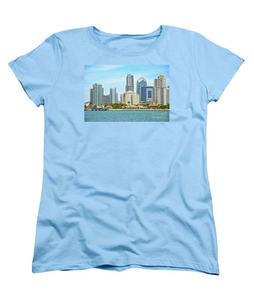 Seaport Village And Downtown San Diego Buildings Women's T-Shirt (Standard Cut) by Claudia Ellis