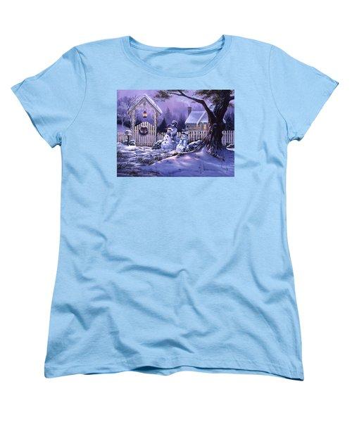 Season's Greeters Women's T-Shirt (Standard Cut)