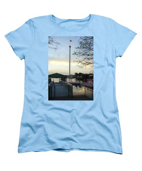 Women's T-Shirt (Standard Cut) featuring the photograph Seaworld Skytower by David Nicholls