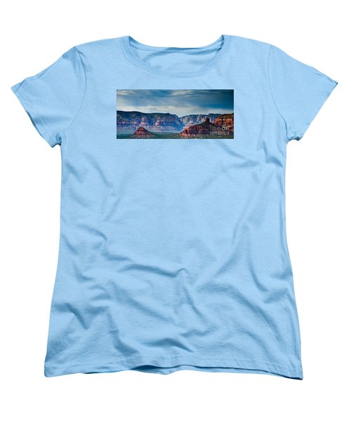 Sedona Arizona Panorama Women's T-Shirt (Standard Cut) by Terry Garvin