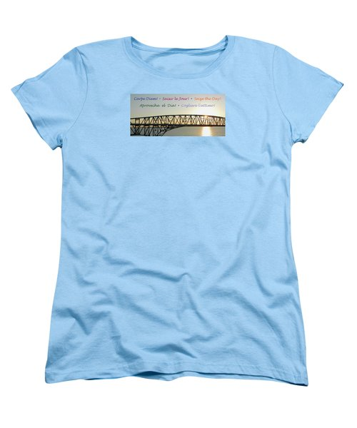 Seize The Day - Annapolis Bay Bridge Women's T-Shirt (Standard Cut) by Emmy Marie Vickers