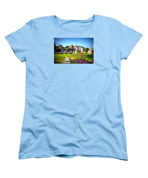 Women's T-Shirt (Standard Cut) featuring the photograph Selcuk Castle by Lou Ann Bagnall