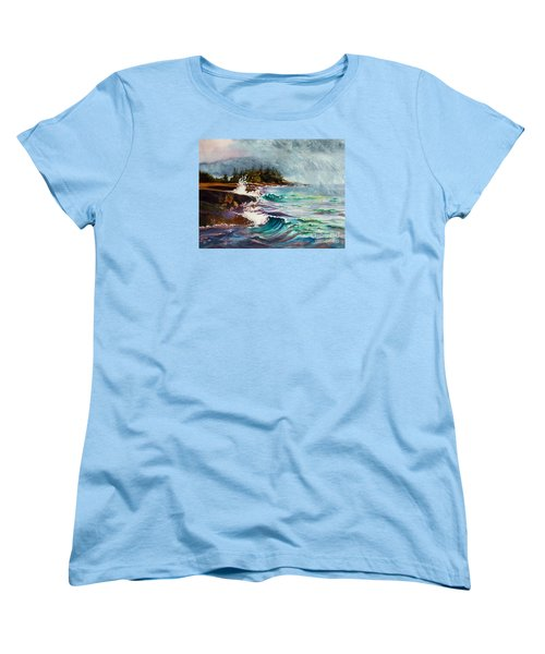 September Storm Lake Superior Women's T-Shirt (Standard Cut) by Kathy Braud