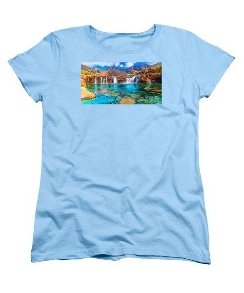 Serene Green Waters Women's T-Shirt (Standard Cut) by Catherine Lott