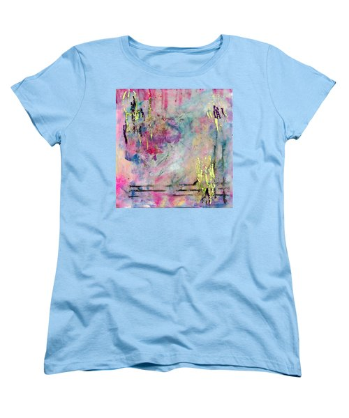 Serene Mist Encaustic Women's T-Shirt (Standard Cut) by Bellesouth Studio