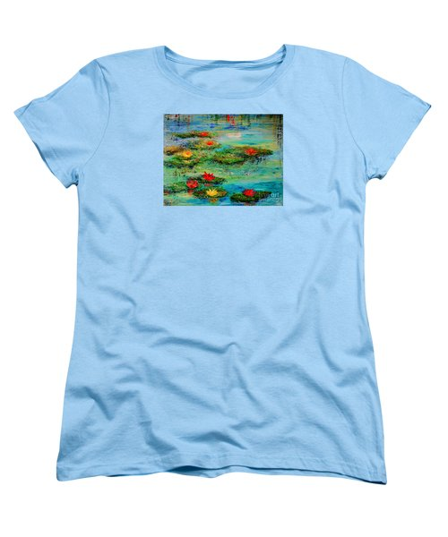 Women's T-Shirt (Standard Cut) featuring the painting Serene by Teresa Wegrzyn