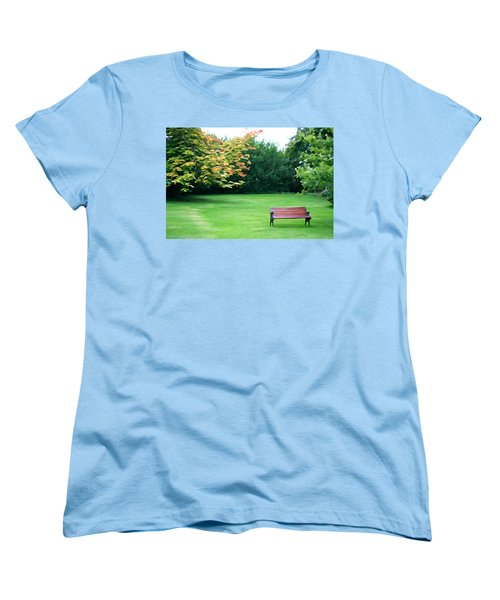 Women's T-Shirt (Standard Cut) featuring the photograph Serenity by Charlie and Norma Brock