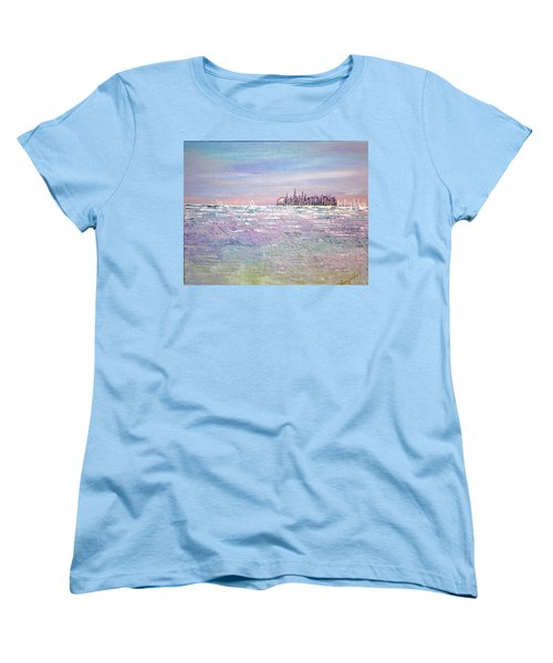 Serenity Sky Women's T-Shirt (Standard Cut) by George Riney