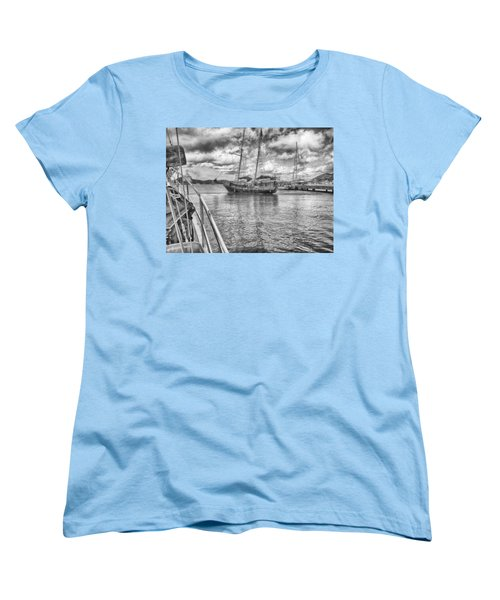 Women's T-Shirt (Standard Cut) featuring the photograph Setting Sail by Howard Salmon