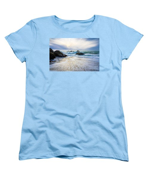Women's T-Shirt (Standard Cut) featuring the photograph Setting Sun And Rising Tide by CML Brown