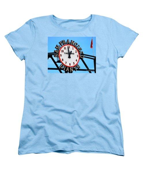 San Francisco Giants Baseball Time Sign Women's T-Shirt (Standard Cut)