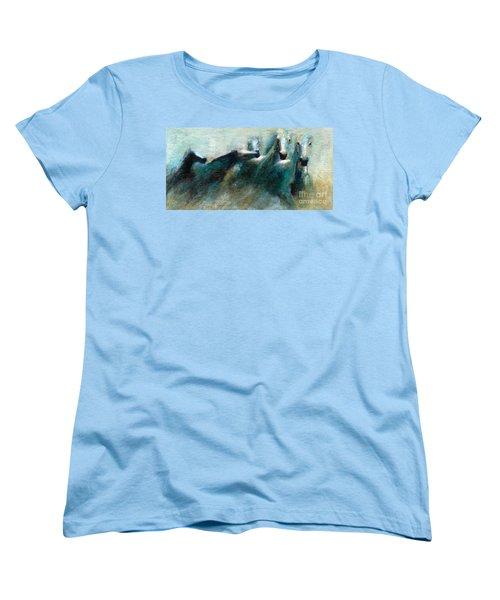 Shades Of Blue Women's T-Shirt (Standard Cut) by Frances Marino