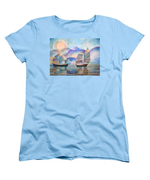 Women's T-Shirt (Standard Cut) featuring the painting Shades Of Tranquility by Tracey Harrington-Simpson