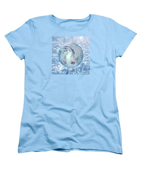 Women's T-Shirt (Standard Cut) featuring the painting Shades Of Winter by Robin Moline