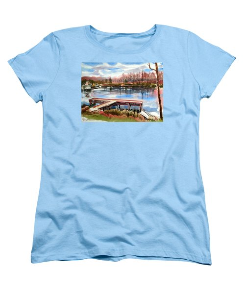 Shepherd Mountain Lake In Winter Women's T-Shirt (Standard Cut)