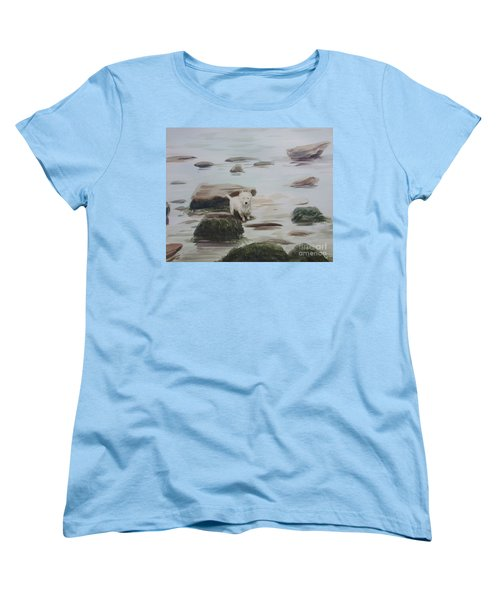 Women's T-Shirt (Standard Cut) featuring the painting Shirley's Dog by Martin Howard