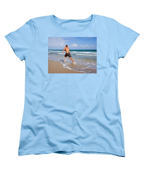 Shore Play Women's T-Shirt (Standard Cut) by Keith Armstrong