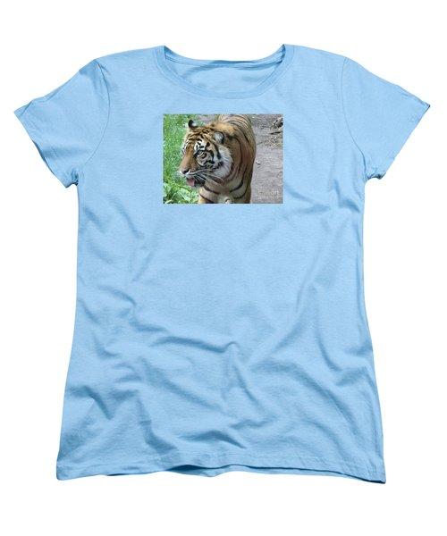 Women's T-Shirt (Standard Cut) featuring the photograph Siberian Tiger by Lingfai Leung